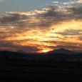 阿武隈山系からの日の出