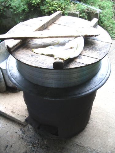 味噌造りの大釜