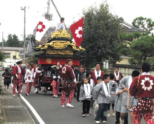 玉ノ井神社の太鼓台