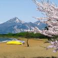 猪苗代湖から磐梯山